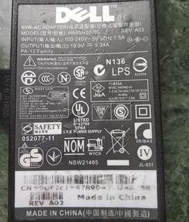 Dell 19.5v 65w-Ac Notebook 手提電腦火牛