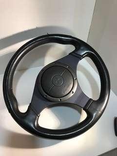 Original EVO 9 steering wheel with airbag
