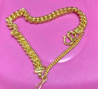 Lovely, 999 Gold bracelet for grab ❤️❤️💛💛💙💙