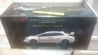 EBBRO Honda Civic Type R 2015 1/18 Championship White 81066