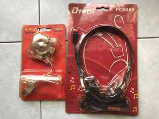 Headset and USB port