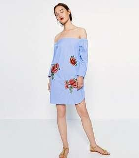 Zara Embroidered Patch Dress