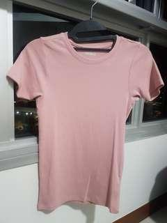 Pink Top Shirt (S size) [Slim Fit Type] casual wear cottonon