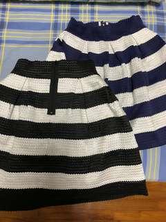 Stripped Ladies skirt