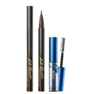 ($170兩套) 韓國 CLIO Waterproof Brush Liner Kill Brown Set 套裝 啡色 eyeliner