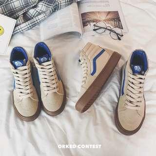 Men's Korean Style High Cut Lace Up Sneakers 👟 Shoes