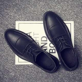 Men's Korean Style Lace Up Slip On Loafers Shoes