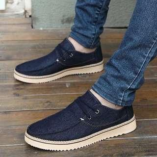 Men's British Style Jeans 👖 Lace Up Sneakers 👟 Shoes