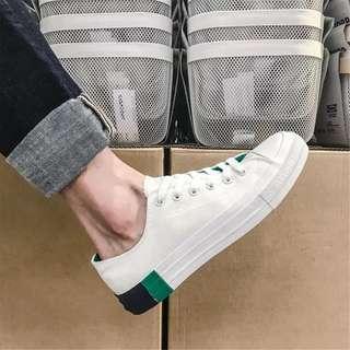 Men's Korean Style Lace Up Low Cut Sneakers Shoes