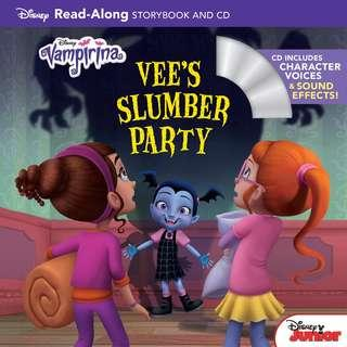 @(Brand New) Vampirina :  Vee's Slumber Party   By: Disney Storybook Artists, Bill Scollon, Cindy Robinson, Jordan Davis, Isabella Crovetti   [Read-along storybook with CD)     For Ages: 8 - 12 years old