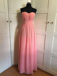 Pink Dress/ pink maxi dress/ pink gown/ tube pink gown/ pink tube dress/ pink long dress/ prom dress/ pink dress