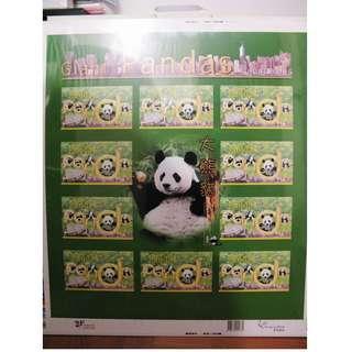香港 HK - 1999 大熊貓在香港 大版張 Panda (清貨大減價)