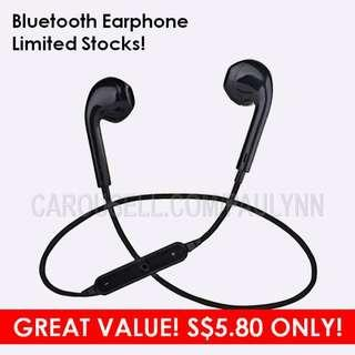 ONLY 5.80! FANTASTIC VALUE! S6 Bluetooth Earphone cheap and good