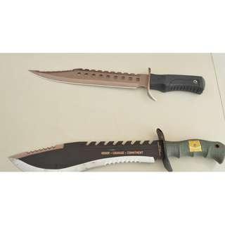 陸戰隊廓爾喀  藍波刀 露營刀 刀具  登山刀   ~非開山刀~