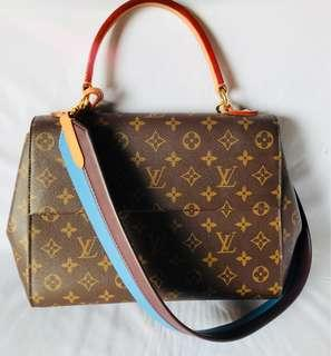 Lv monogram cluny MM bag blue strap