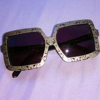 🚚 Karen Walker Hip Hop Silver Plated Brocade Square Tortoiseshell Shades from Polette Bali