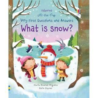 @(Brand New) What is Snow? [Lift-the-Flap Very First Questions and Answers] [Board book]    By: Katie Daynes, Marta Alvarez Miguens (Illustrator)