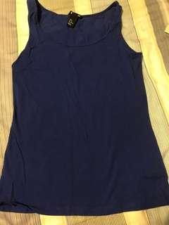 Blue Colour H&M sleeveless top