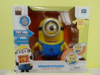 BNIB Minion Stuart Laughing Action Figure