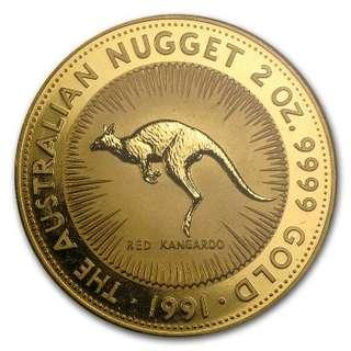 Perth Mint 2oz Australian Gold Nugget Coin