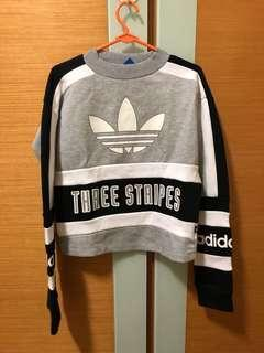 BNWOT Adidas cropped pullover