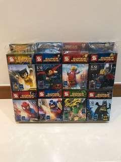 Brand New Super Heroes LEGO Figurines