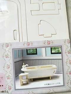 Mini wooden bathtub and side stand furniture diy