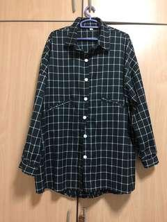 black checked oversized outerwear /shirt