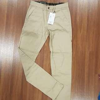 NEW Men Long Pant (Light brown, sz 29, 37cm)