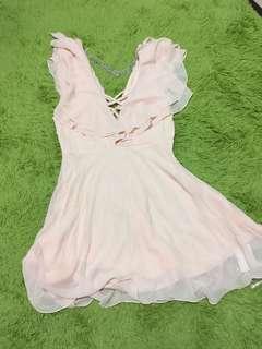 韓製性感雪紡洋裝