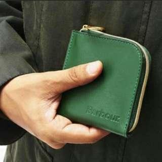 British Barbour Leather Wallet