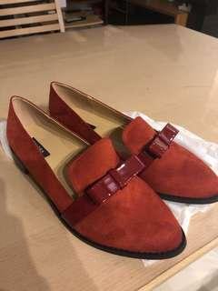 BN ZALORA Red loafer