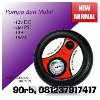 Pompa listrik mobil portable
