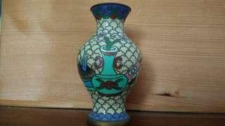 老件景泰藍小花瓶