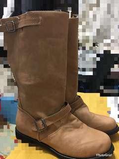 仿皮Boots (淺啡色)