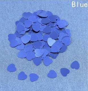 Party Decorations Heart Confetti ~ Royal Blue