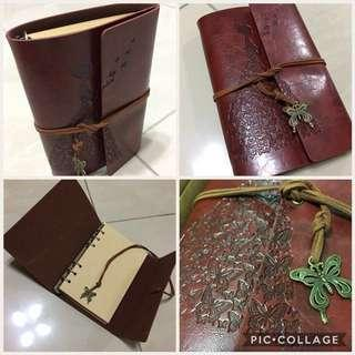 🚚 A6 size Vintage Note Book/Refillable/80 sheets of Notes/Free Registered Post