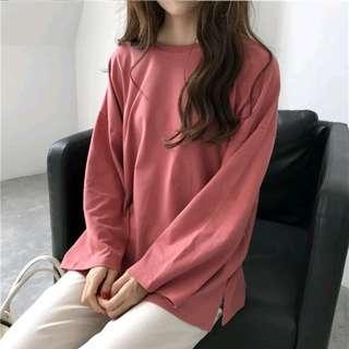 Harajuku oversize tshirt top flare long sleeve