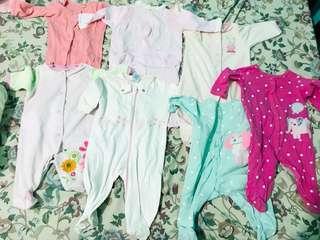 Bundle baby overall sleepsuit frogsuit