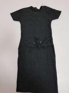 Grey bodycon Dress - S