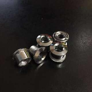 BN Single Chainring Bolts 1x Conversion ( Bike Bicycle MTB Mountain Road Fixie Foldie Narrow Wide Cranks )