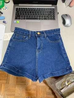 BNWT highwaisted demin shorts
