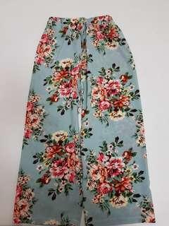 Floral palazzo pants - M