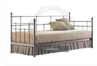 Silver Metal Day Bed Frame (offer ends 14th Jan)