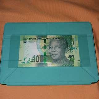 2018 南非10蘭特 曼德拉誕辰100週年紀念鈔