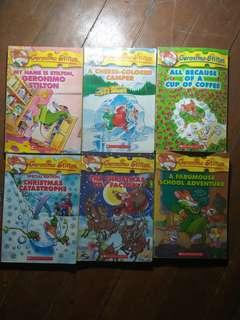 SET OF GERONIMO STILTON BOOKS
