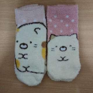 Sanrio Sumikkogurashi socks 三麗鷗角落生物珊瑚絨短襪
