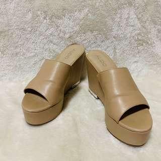 Aldo Nude Wedge Sandals