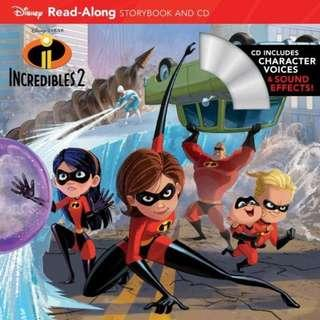 (Brand New) Incredibles 2  [Read-along Storybook And Cd]  By: Disney Book Group, Disney Storybook Art Team (Illustrator)   For Ages: 5 - 8 years old