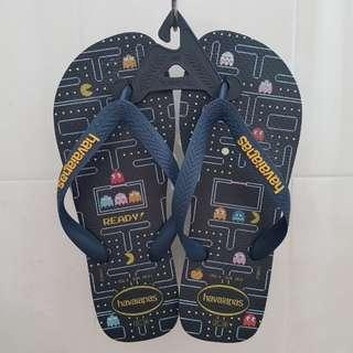 NEW US6 GLOW IN THE DARK PACMAN HAVAIANAS SLIPPERS TONGS